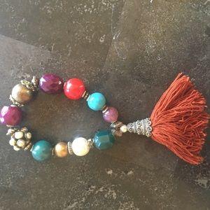 ALDO Faux Stone and Tassle Bracelet